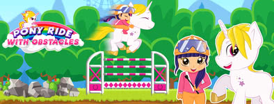 Play free game Pony Ride With Obstacles