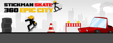 Play free game Stickman Skate : 360 Epic City