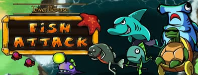 Play free game Tower defense : Fish attack