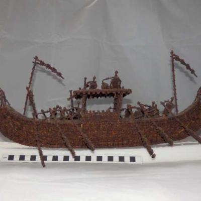 Malay pleasure boat made from cloves