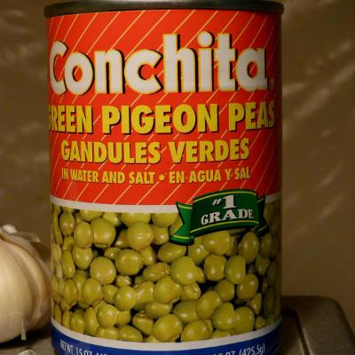 Photo of Tin of cajanus cajan, pigeon pea