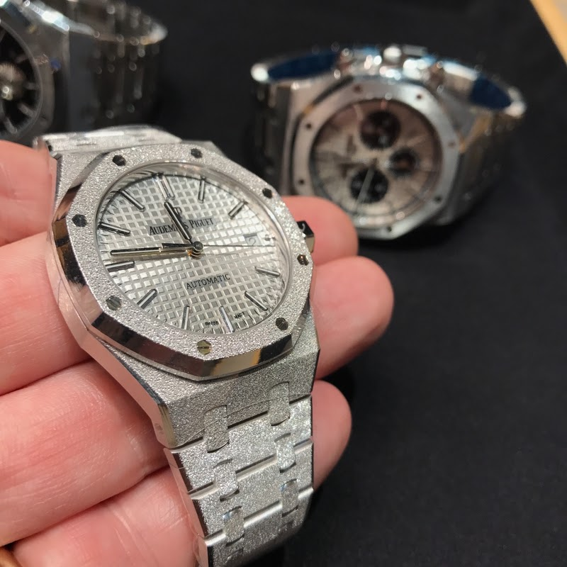 0d03e38ebf90 Audemars Piguet - I saw these in Taipei boutique - Frosted white ...