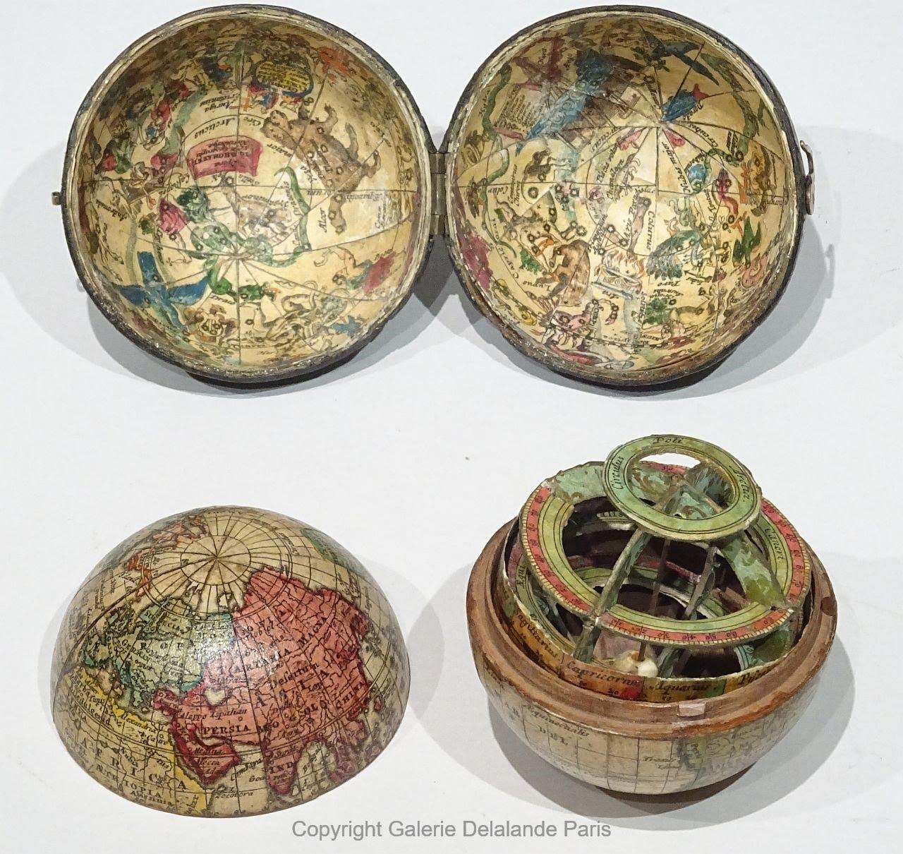 Kieszonkowy globus z 1715 r.