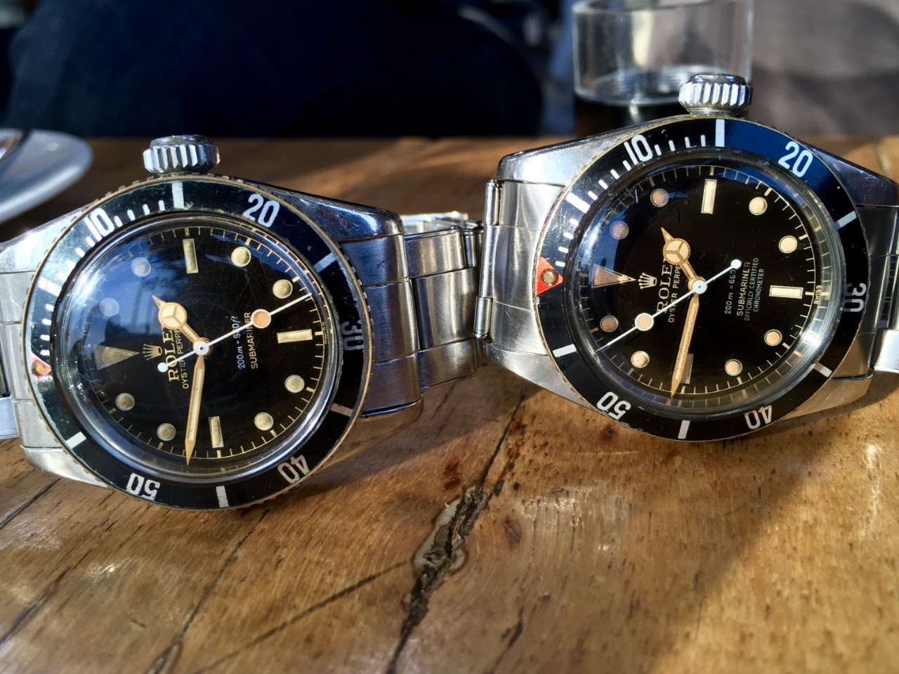 Rolex Rolex 5510 Vs Rolex 6538 4 Line Battle Of The Big Crowns