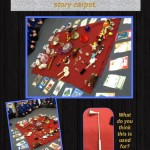 Reception have been creative using a story carpet to make stories