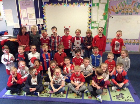 Year one supporting Red Nose Day