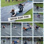 Year 3/4 enjoy the water slide
