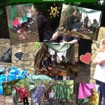 Reception Building Dens And Hunting For Mini-beasts At The Rising Sun Country Park.