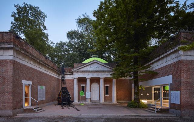 2018 venice biennale US pavilion entrance