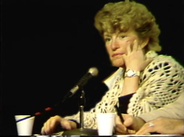 Ann Bergren jury conversation black background