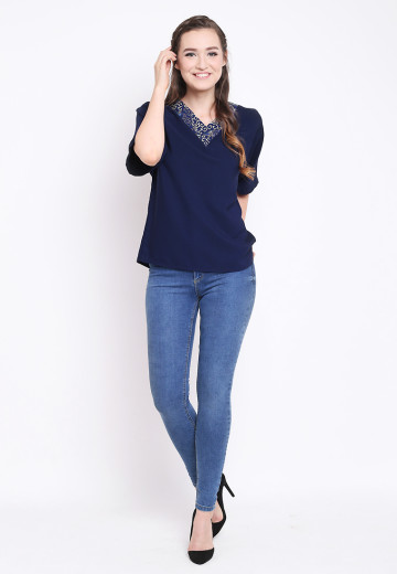 Isty Top in Navy image