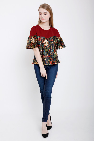 Irda Top in Maroon image