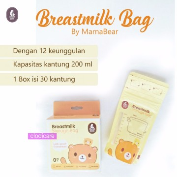 Gabag Kantong ASI BPA Free 100ml - Breastmilk Storage Bag Newborn - 1 Box (Biru