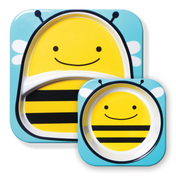 Skip Hop Zoo Tabletop Melamine Set - Bee image
