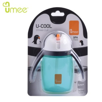 Umee U Cool Straw Cup 360ml [BLUE] image