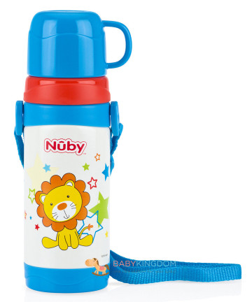 Nuby Stainless Steel Thermos with Strap 360ml - Lion image