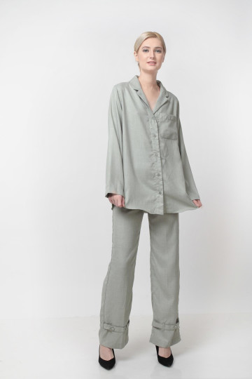 Daybreak Top Linen Dusty Green image