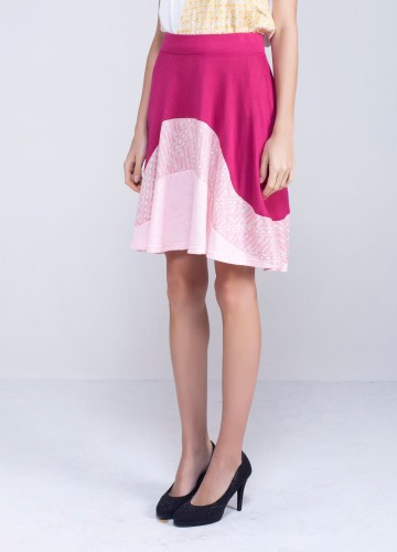 Wave Skirt Pink image