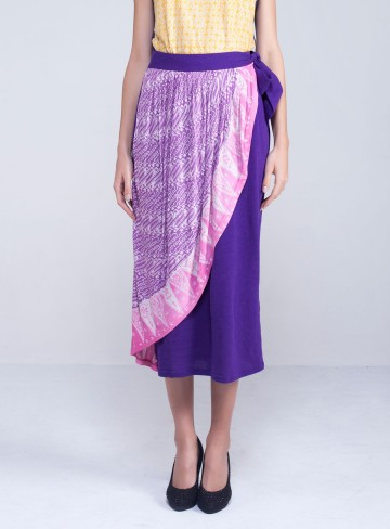 Tumpal Skirt Purple image