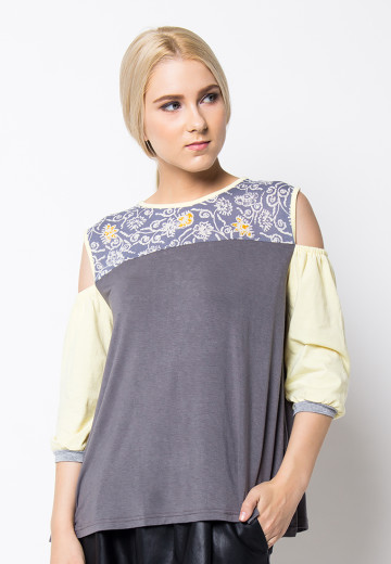 Ciera shoulder top grey image