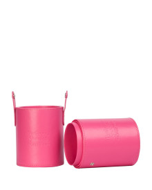 Cylinder Travel Brush Holder - Pink