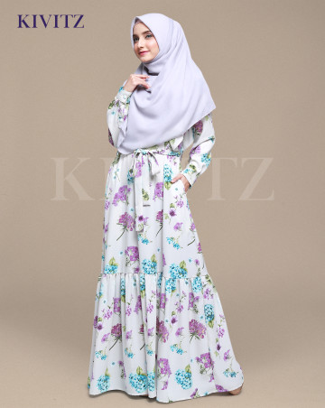 JAVINE DRESS - Floral Puple / PRE ORDER image