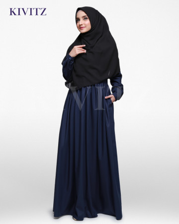 BASIC A-LINE DRESS (Navy) image
