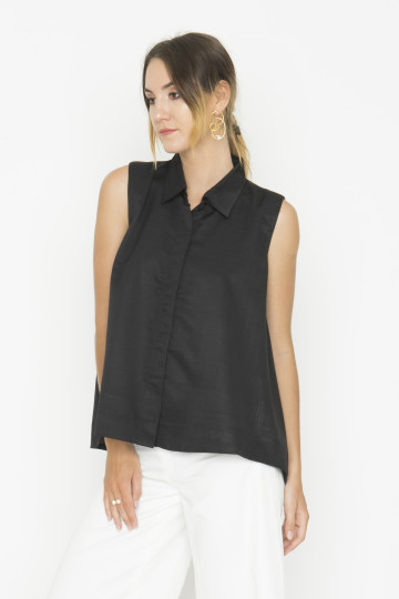 Sleeveless Black Adele Top