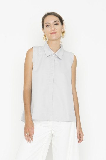 Sleeveless Grey Adele Top