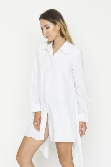 White Six Shirt Dress