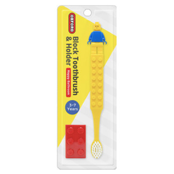 Oxford Block Toothbrush and Holder - Yellow