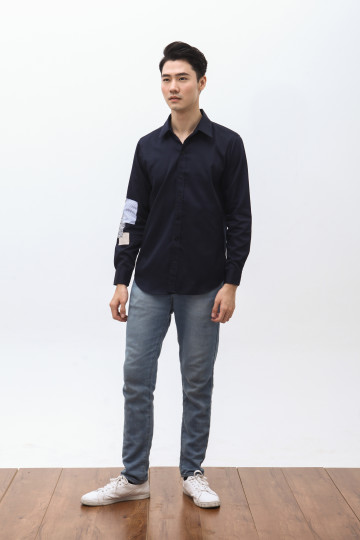 Daika Patches Shirt in Navy