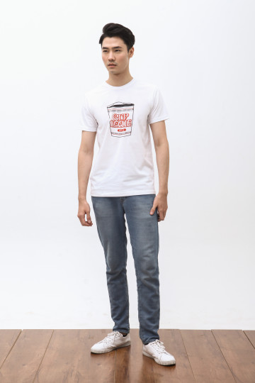 Noodle Cup Tshirt in White