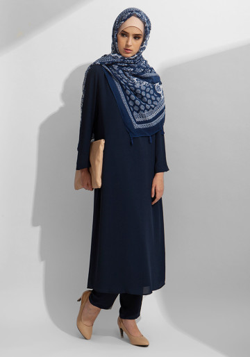 TUNIC SET CREP IN NAVY