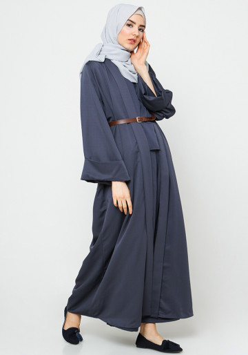 INNER SET TOP AND CULLOTES PANTS in NAVY