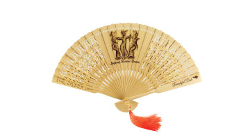 Traditional Fan Print Legong Kraton Dance image