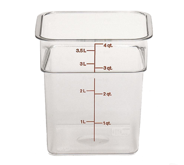 Cambro 4SFSCW135 Square Food Storage Container 4 Qt Clear