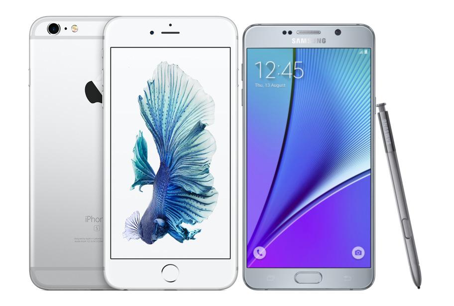 So sánh nhanh iPhone 6S Plus và Samsung Galaxy Note 5