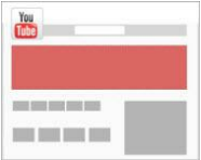 Stylized image of YouTube masthead ad in a webpage