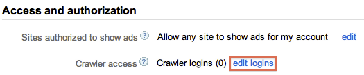 Add crawler login
