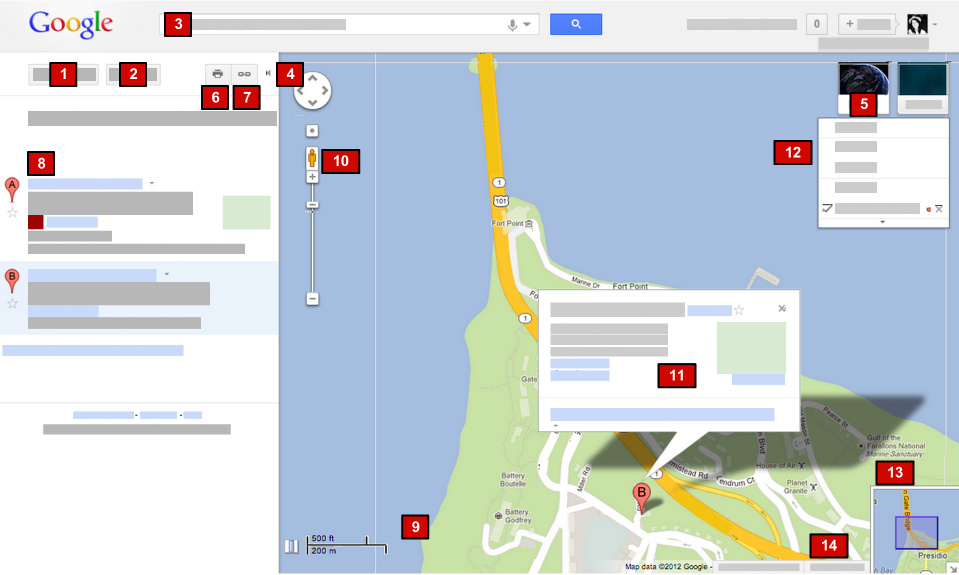 how to add google map search in html