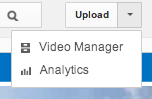 Video Manager menu