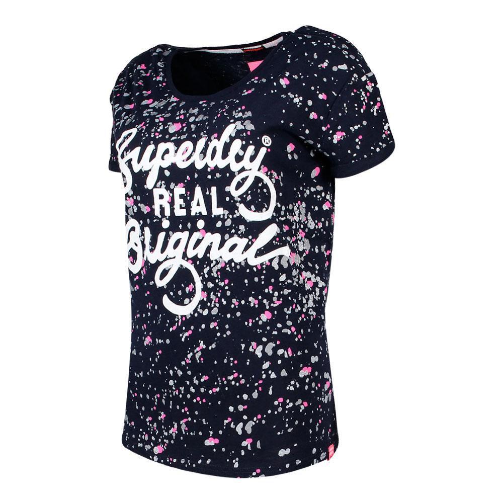 T-Shirts Superdry Real Originl Paint Slim Bf Blau T60969// T-Shirts Frau Blau