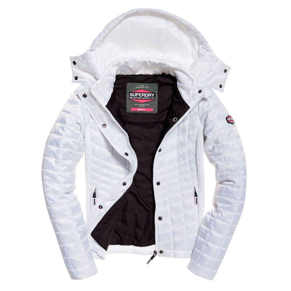 Superdry Nova Box Quilt Fuji White T39439// Coats and parkas Woman White Superdry