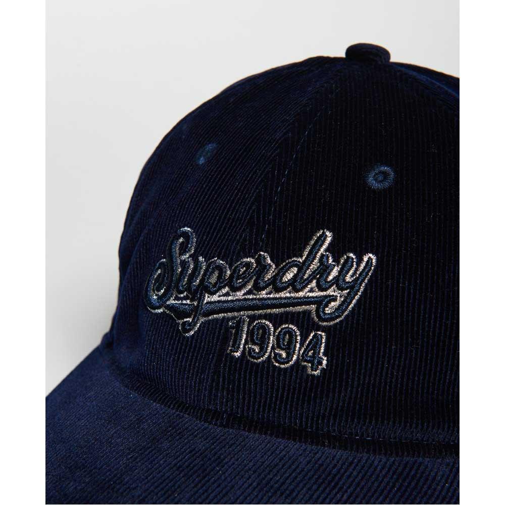 Berretti e cappelli Superdry Superdry Corduroy Eclipse Navy moda