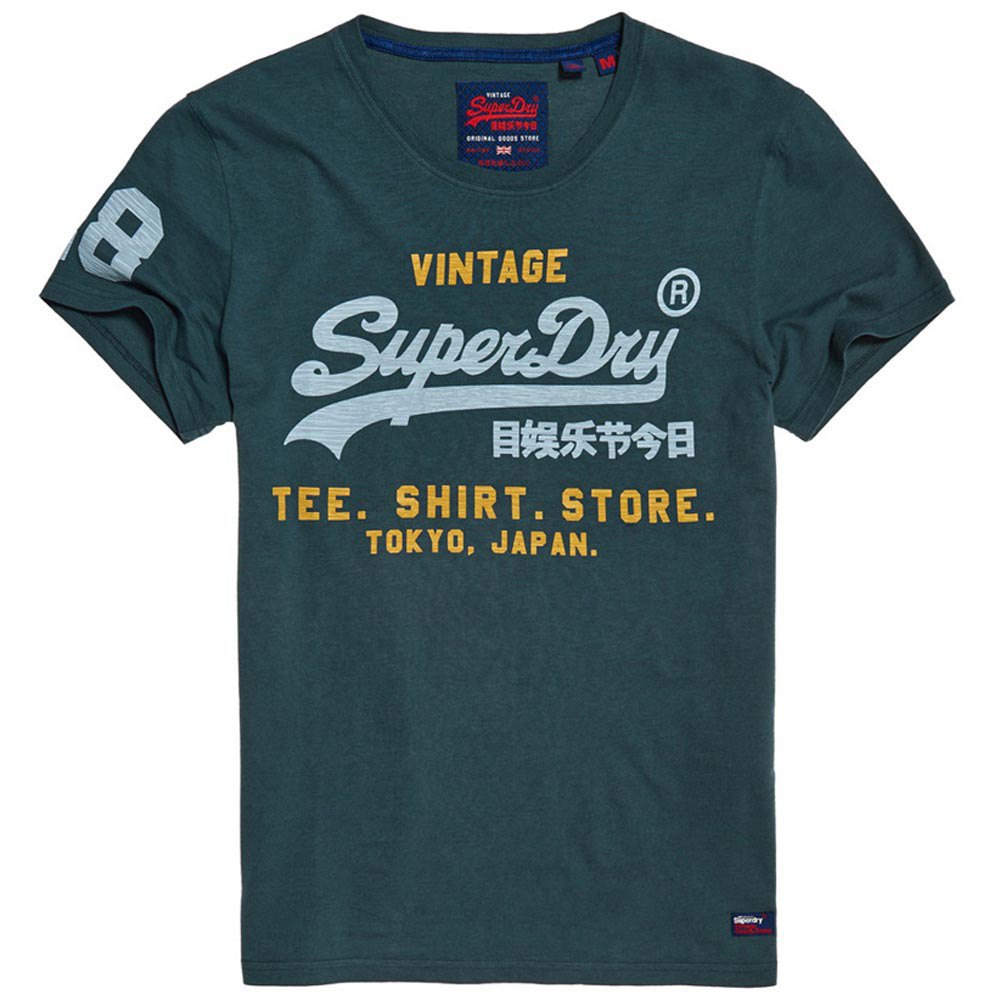 Superdry Shirt Shop Duo Mid Blau T85934// T-Shirts Mann Blau T-Shirts Superdry