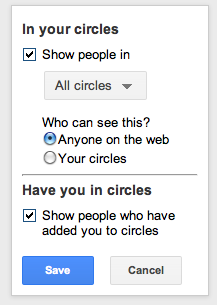 Enable circle in profile