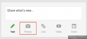 Google+ now supports sharing Photos and Videos from Google Drive
