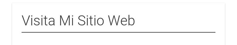 Visita Mi Sitio Web