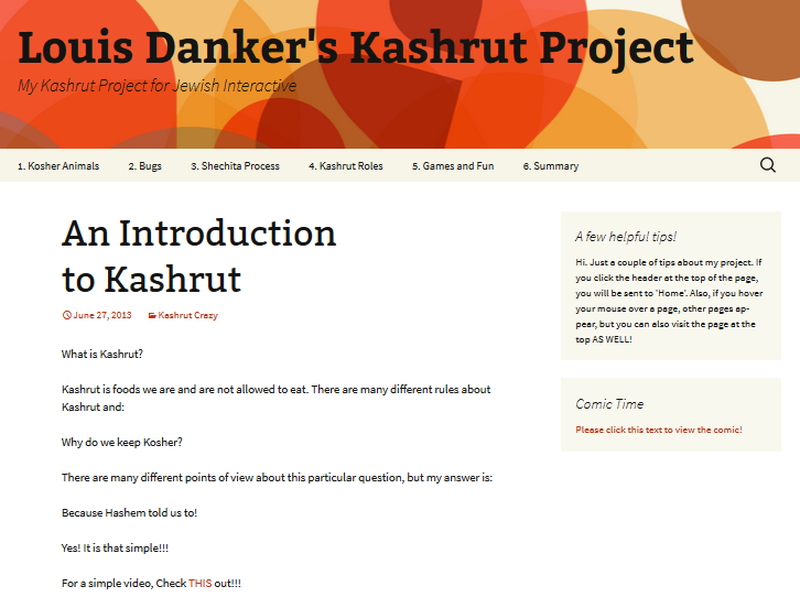 2013-07-29 13_48_55-Louis Danker's Kashrut Project _ My Kashrut Project for Jewish Interactive
